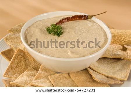 Hummus Dip - stock photo