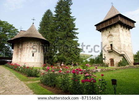 Humor Monastery, Romania - stock photo