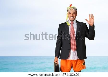 Humor. Summer vacations - stock photo