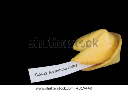 Humorous Fortune Cookie - stock photo