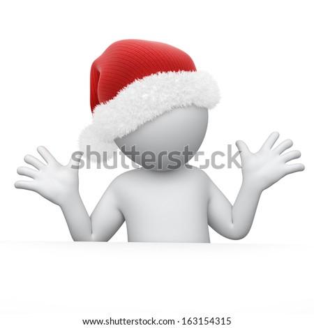 Humorous Santa - stock photo