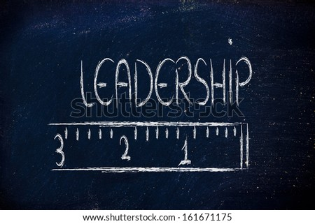 humour design of a ruler measuring leadership