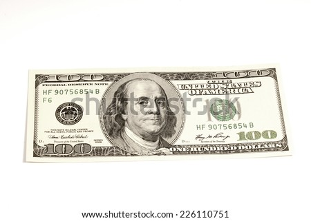 Hundred Bucks - stock photo