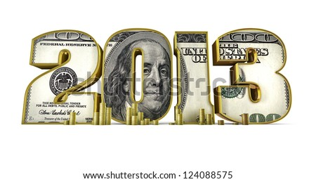 Hundred dollar 2013 - stock photo