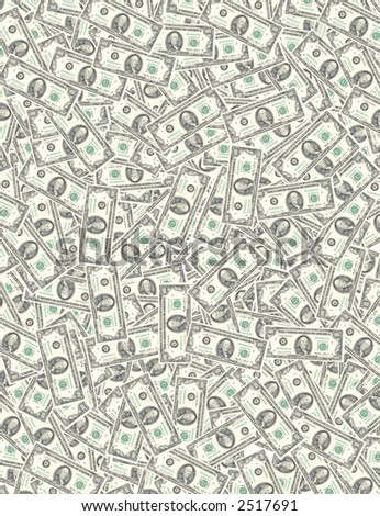hundred dollar background - stock photo