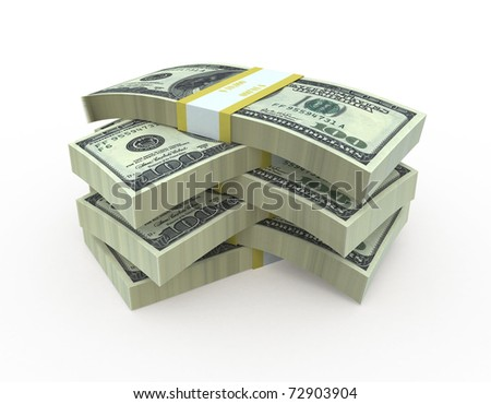 hundred dollar banknote (clipping path)