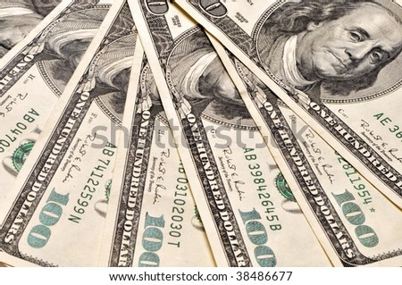 Hundred dollar banknotes