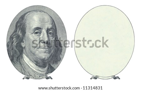 Hundred dollar. Benjamin Franklin and blank place. - stock photo