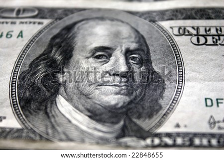 Hundred dollar bill close-up shoot