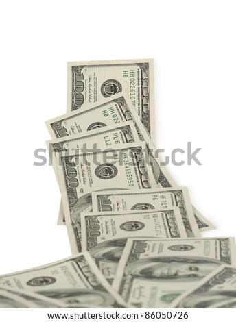 hundred-dollar bill isolated on a white background