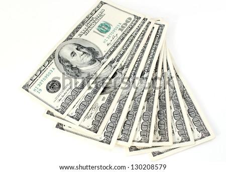 Hundred Dollar Bills - stock photo
