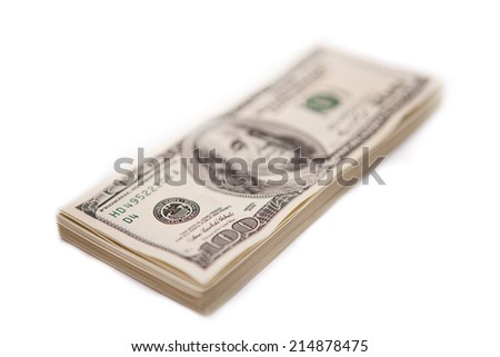 Hundred dollar bills - stock photo