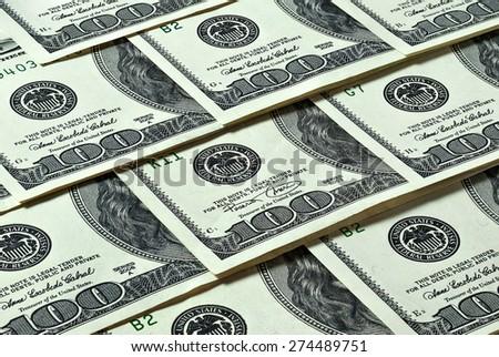 hundred-dollar bills - stock photo