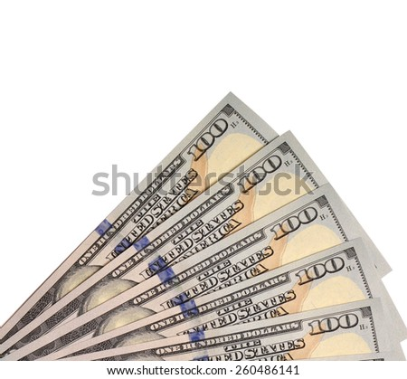 Hundred Dollar Bills for background.isolated - stock photo