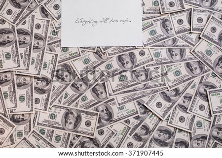 hundred dollar bills front side. background of dollars, old hundred-dollar bil face, motivation, success, you can be rich copyspace, a place for an inscription - stock photo