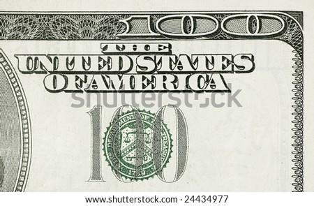 Hundred Dollar Detail - stock photo