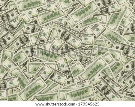 Hundred dollar notes at the ground - stock photo