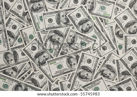 hundred dollars note close up - stock photo