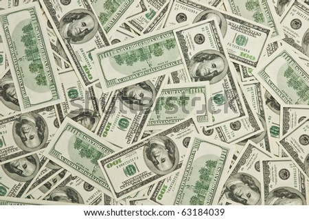 hundred dollars note close up - stock photo