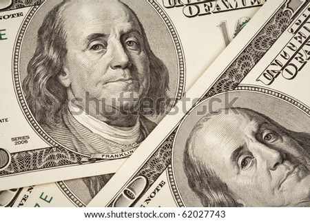 hundred dollars USA background - stock photo