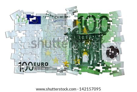Hundred euro banknote - stock photo
