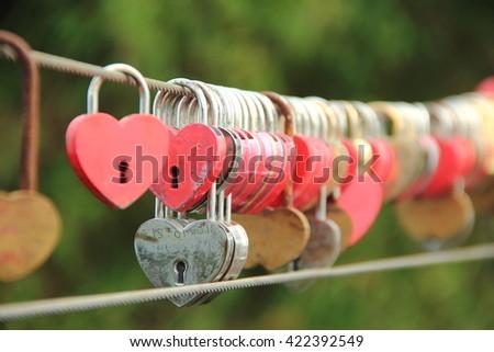 hundred heart - stock photo