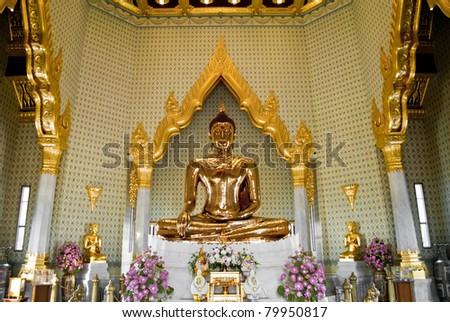 Hundred Percent Golden Buddha - stock photo
