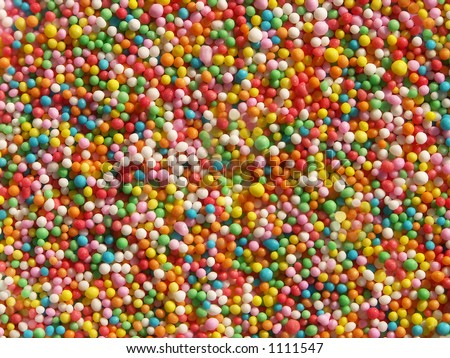 Hundreds and thousands topping close-up - stock photo