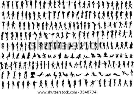 Hundreds of Women's Silhouettes