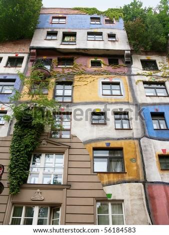 Hundvasserhouse in Wien - stock photo