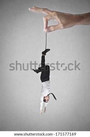 hung businessman - stock photo
