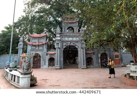 HUNG YEN, Vietnam, June 12, 2016 ancient temples, downtown Hung Yen Vietnam