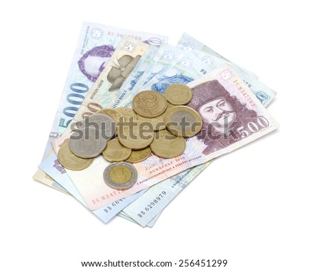 Hungarian Forint Banknotes and Coins