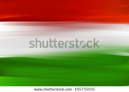 Hungarian hand painted national flag