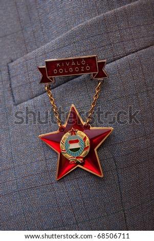 Hungarian medal - stock photo