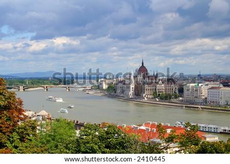 Hungarian parliament - stock photo