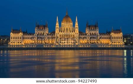 Hungarian Parliament, Budapest - stock photo