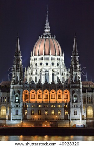 Hungarian Parliament Building - Budabest - stock photo