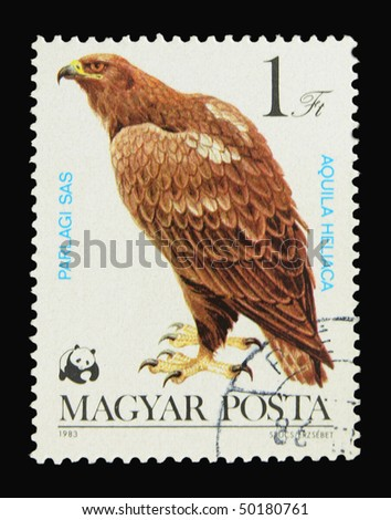 HUNGARY - CIRCA 1983: A stamp printed in Hungary showing Imperial Eagle circa 1983