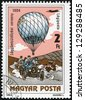 "HUNGARY - CIRCA 1983: A stamp printed in Hungary, shows Balloon Competition, 1904, with the same inscription, from the series ""200 Years of Manned Flight"", circa 1983 - stock photo"