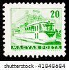 HUNGARY - CIRCA 1963: A stamp printed in Hungary shows image of a trolley bus, series, circa 1963 - stock photo
