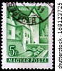 HUNGARY - CIRCA 1960: A stamp printed in Hungary shows Koszec Castle, circa 1960  - stock photo