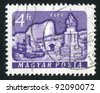 HUNGARY - CIRCA 1961: stamp printed by Hungary, shows Eger castle, circa 1961 - stock photo