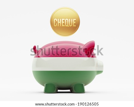 Hungary High Resolution Cheque Concept - stock photo