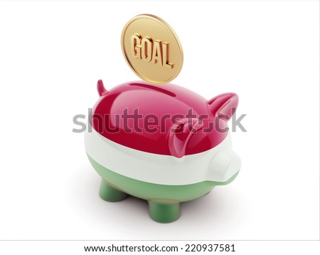 Hungary High Resolution Goal Concept High Resolution Piggy Concept