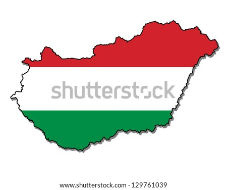 hungary map flag