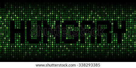 Hungary text on hex code illustration - stock photo