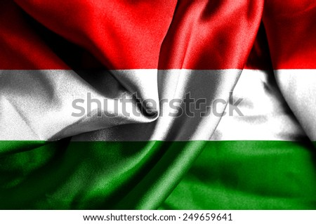 Hungary waving flag - stock photo