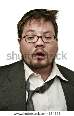hungover - stock photo
