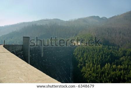 Hungry Horse Dam, Montana - stock photo